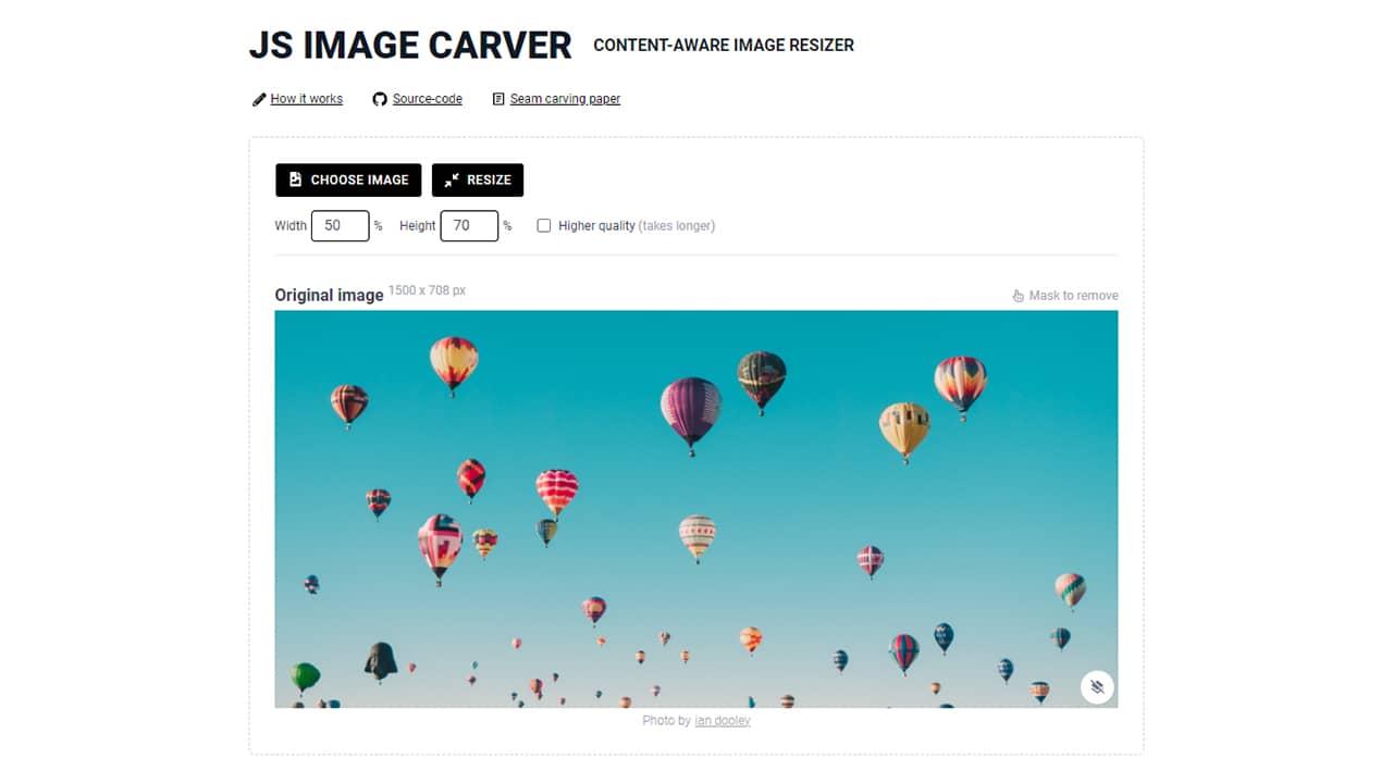 JS Image Carver : redimensionneur d'images intelligent
