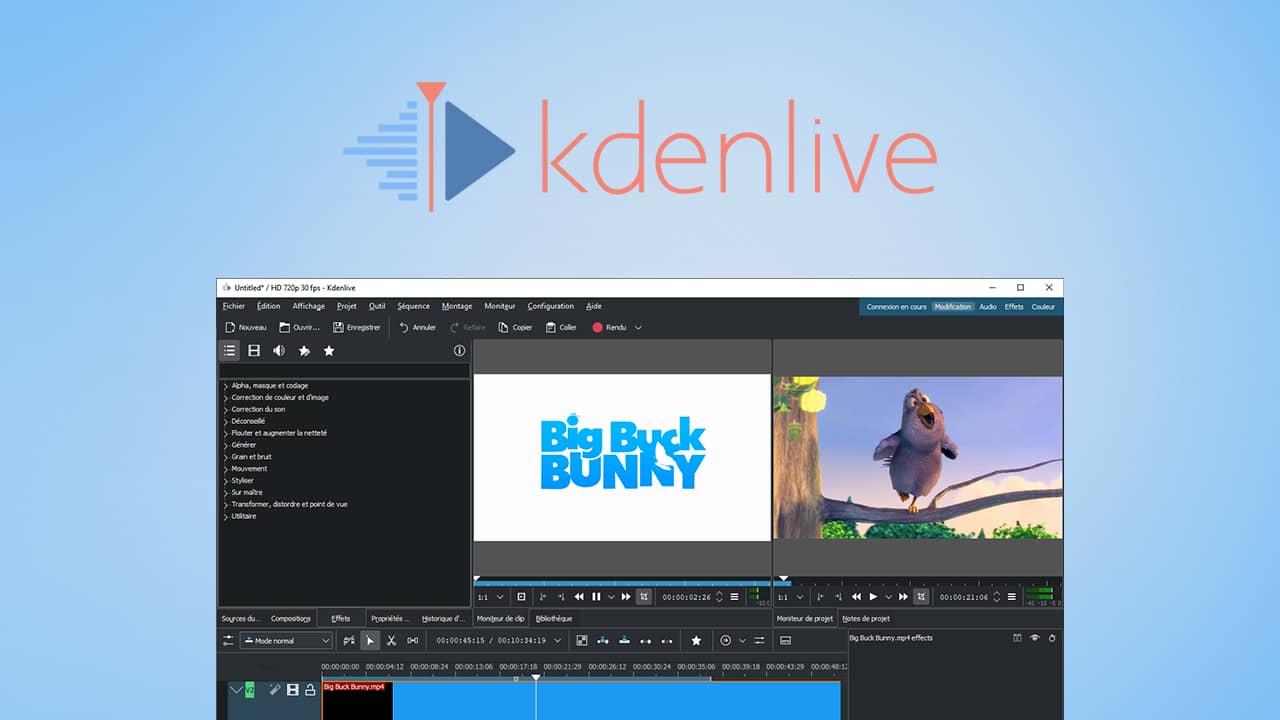 Kdenlive : logiciel de montage vidéo gratuit