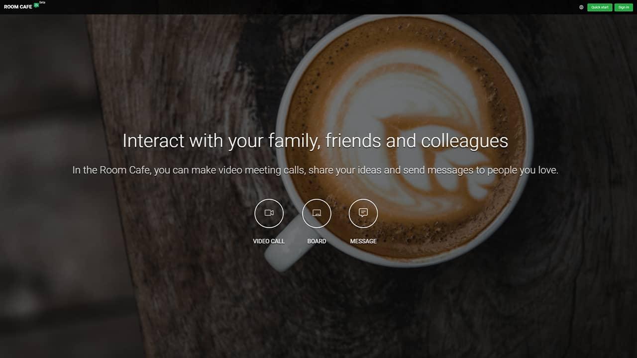 Room Cafe : un service de visioconférence gratuit