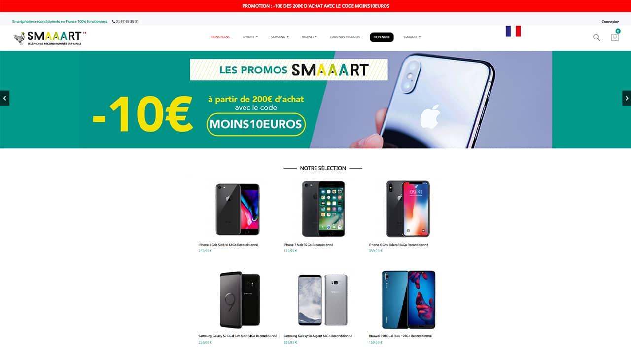 Smartphone reconditionné sur SMAAART