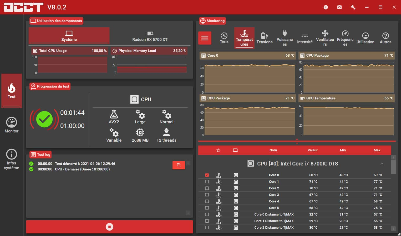 Stress test CPU, GPU, RAM et PSU