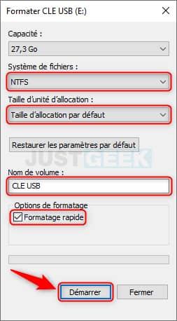 Formater une clé USB sous Windows 10