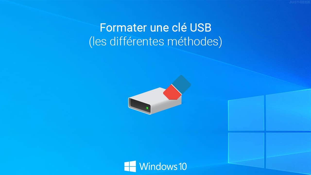 Formater une clé USB dans Windows 10