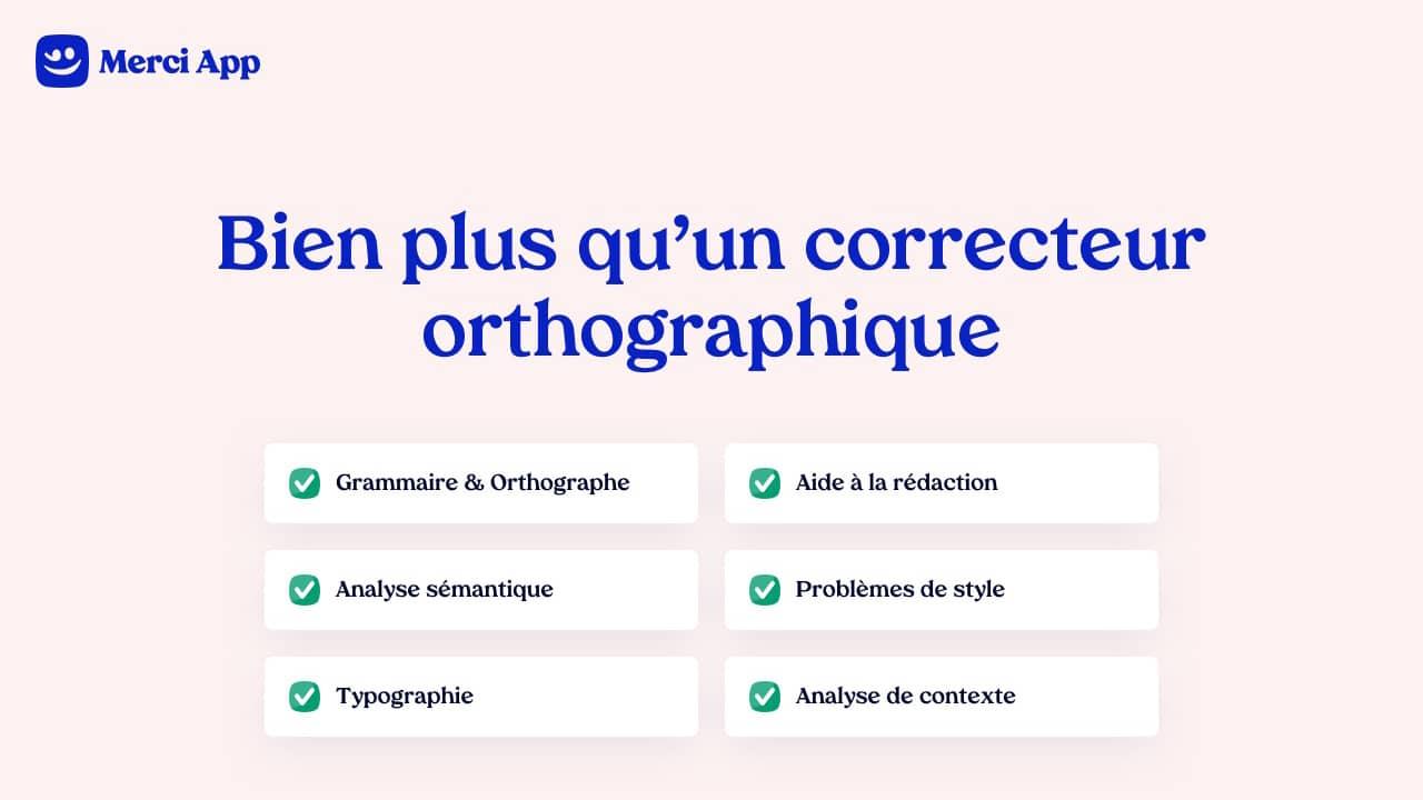 Correcteur d'orthographe et de grammaire