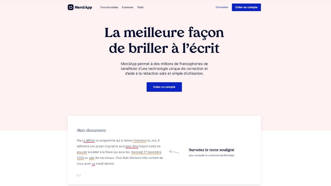 MerciApp : un nouveau correcteur orthographique