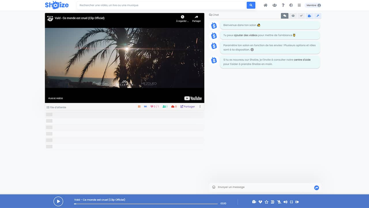 Regarder des vidéos à plusieurs et à distance avec Sholize