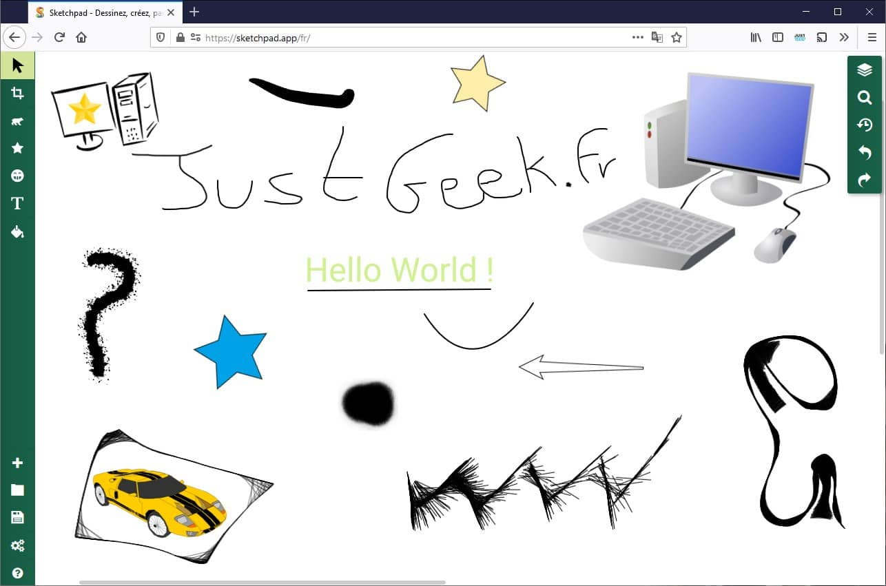 Exemple de dessin avec Sketchpad
