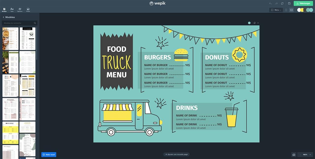 Modèles de menus pour votre restaurant sur Wepik