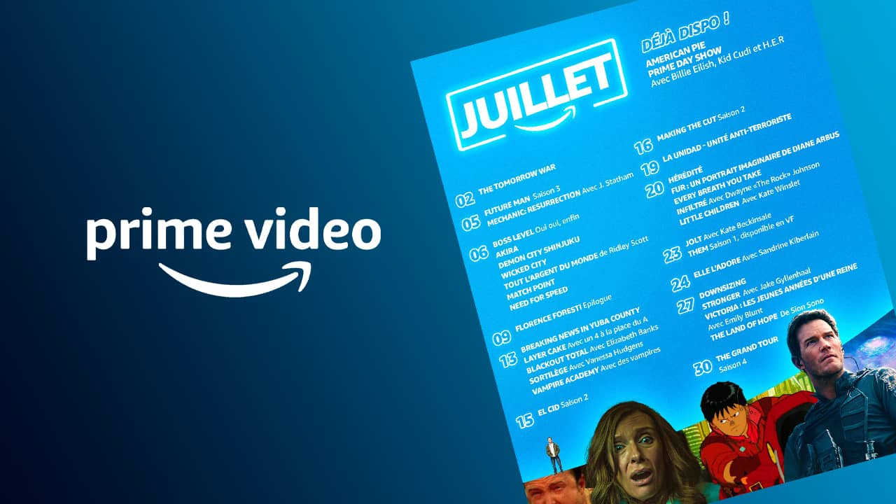 Amazon Prime Juillet 2021