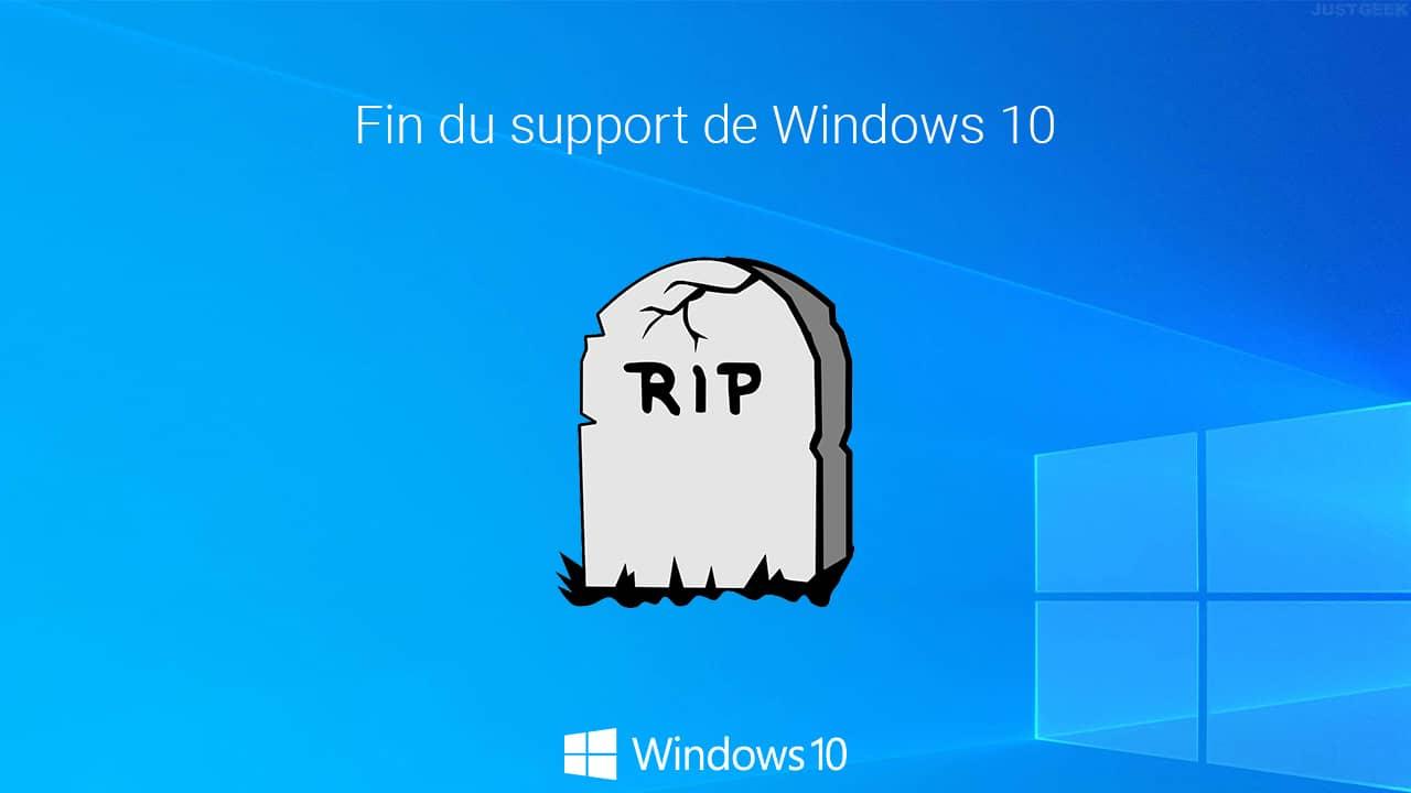 Fin du support Windows 10