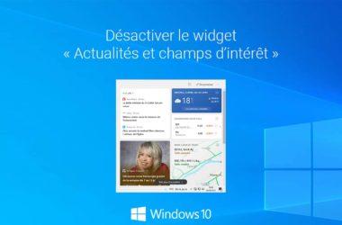 Désactiver la météo de la barre des tâches dans Windows 10