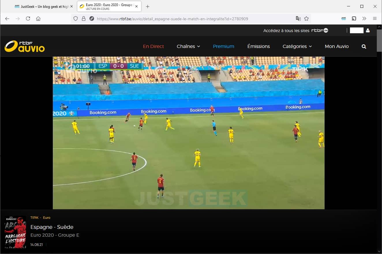 EURO 2021 streaming gratuit