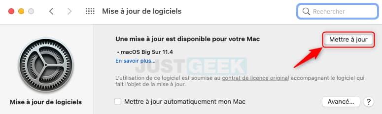 Mettre à jour son MacBook sous macOS