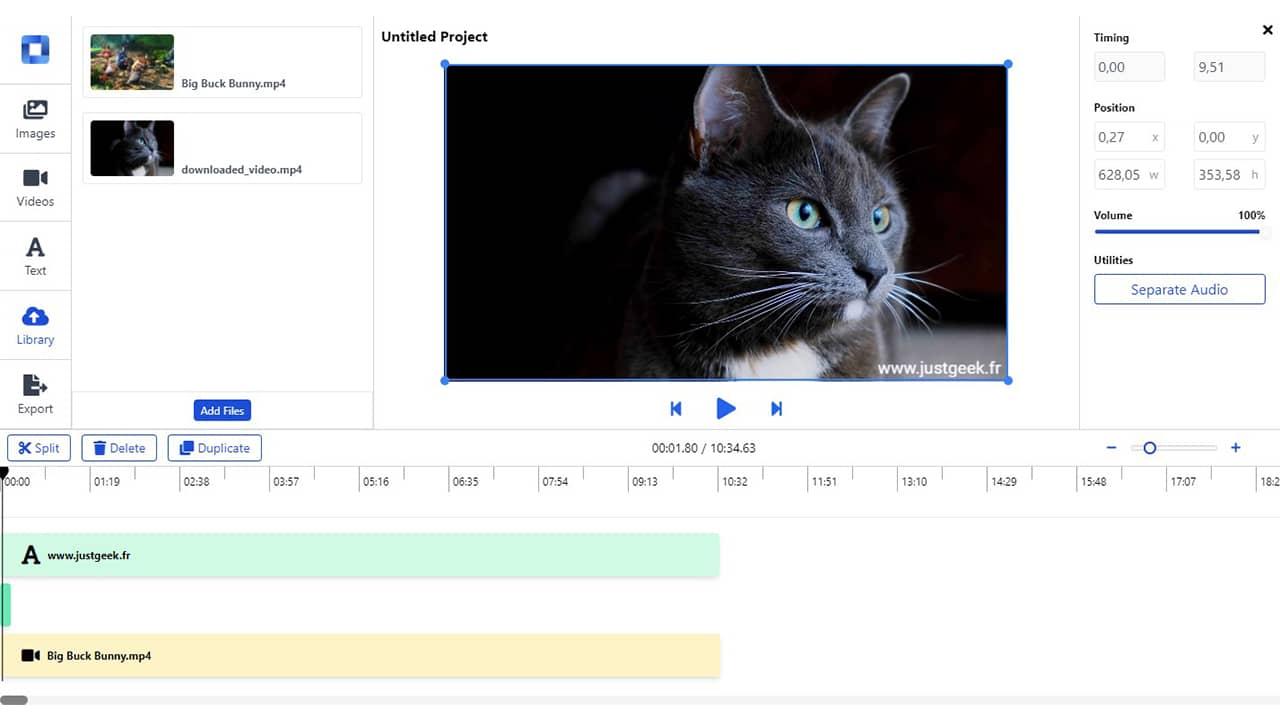 Mastershot : montage de vidéo en ligne gratuit