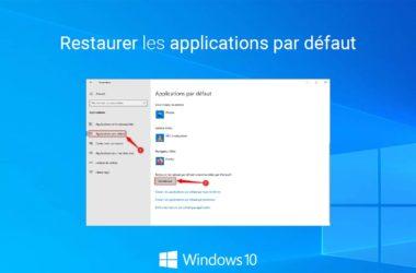 Réinitialiser les applications par défaut de Windows 10