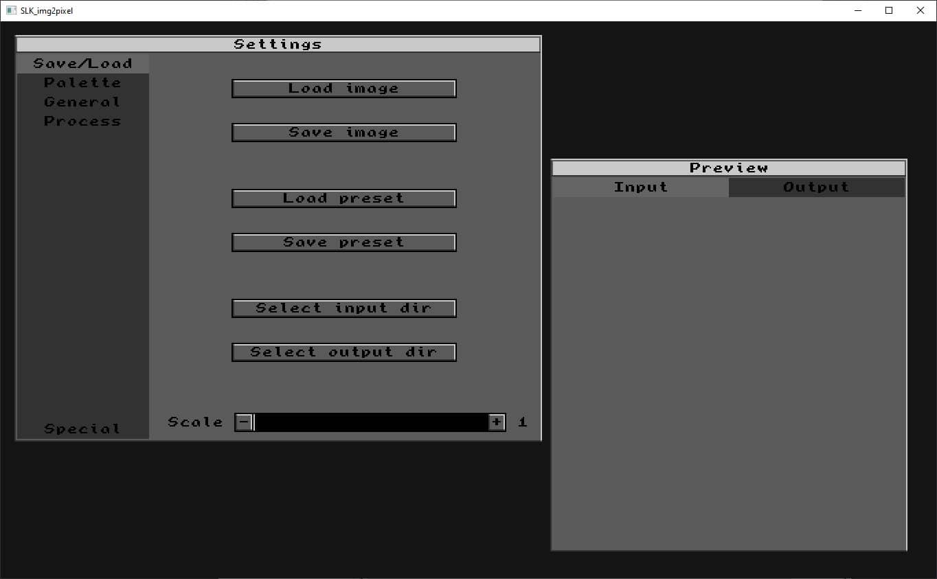 Convertir une image en pixel art avec le logiciel gratuit SLK_img2pixel