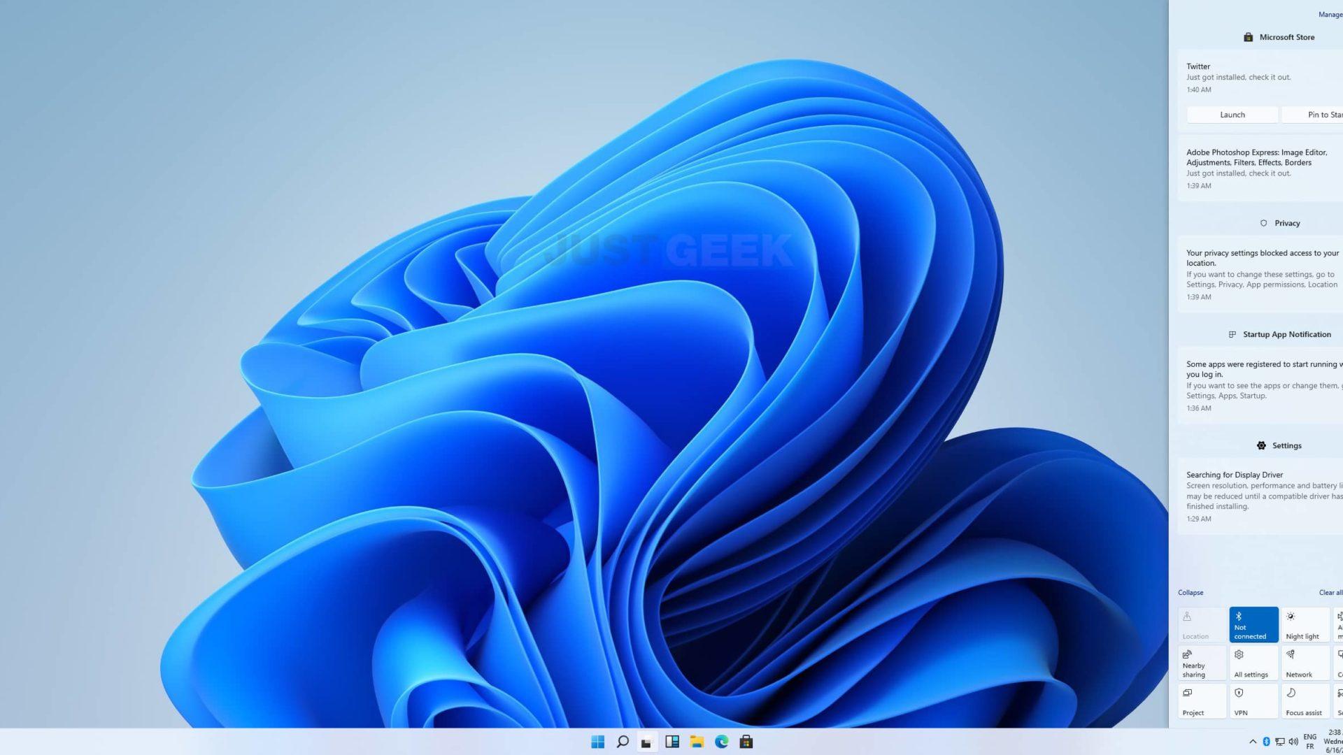 Centre des notifications de Windows 11