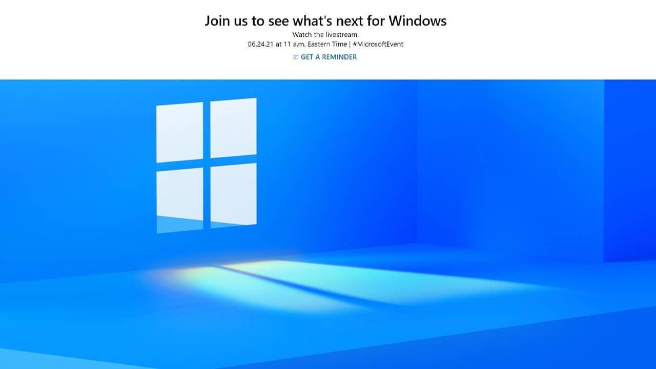Windows 11 : conférence Microsoft