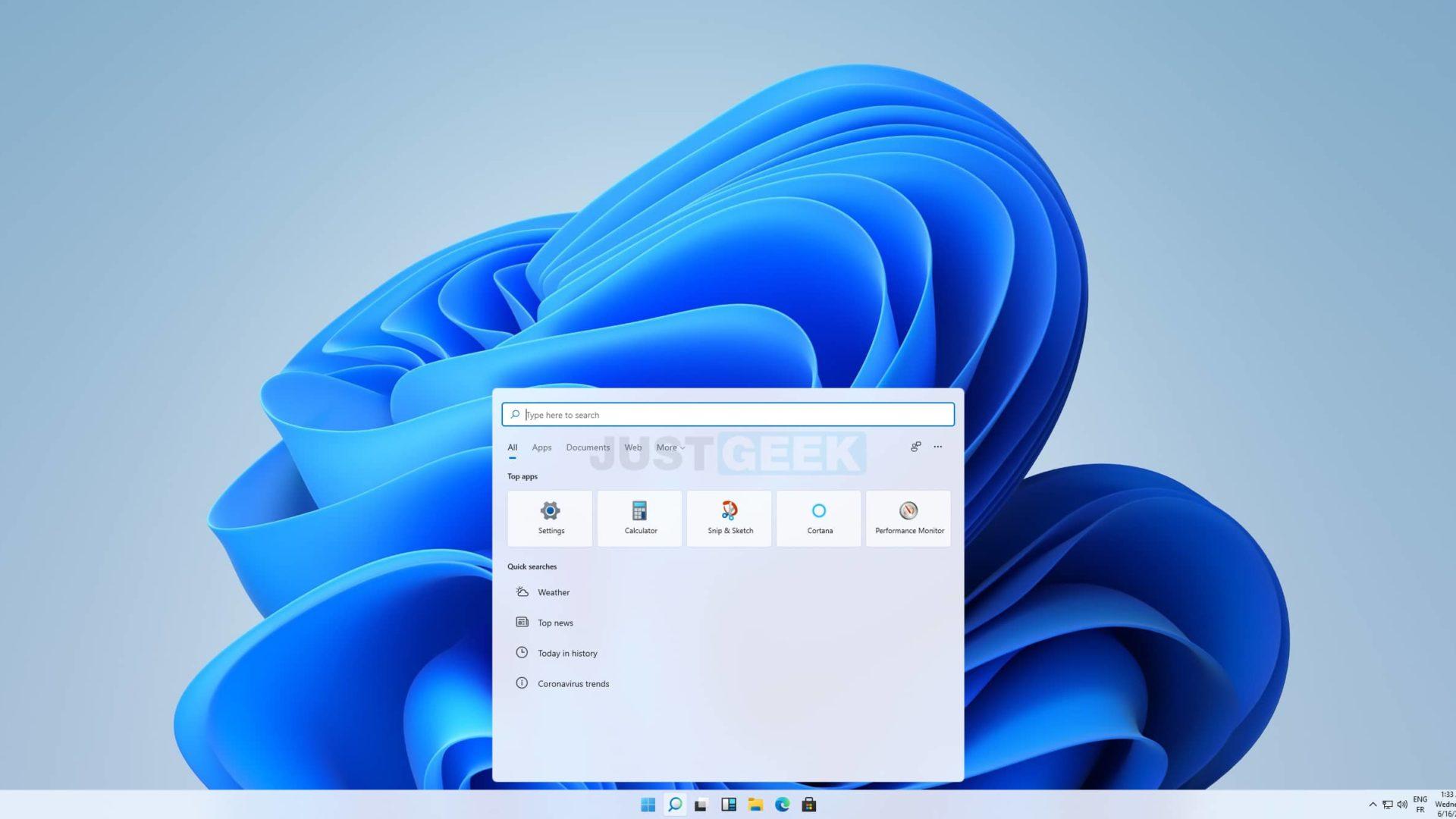 Recherche Windows 11