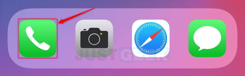 Application Téléphone iPhone