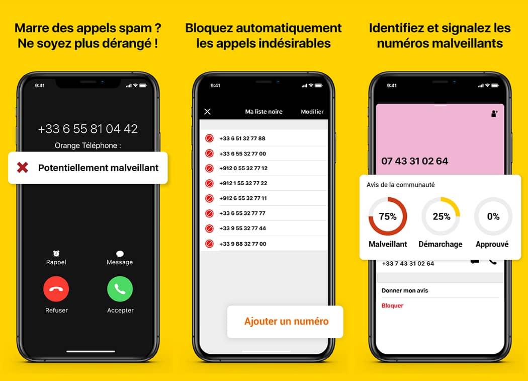 Bloquer les appels publicitaires et malveillants avec l'application Orange Téléphone