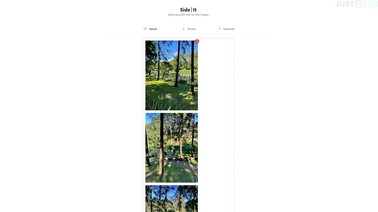 Fusionner plusieurs photos avec SideIt