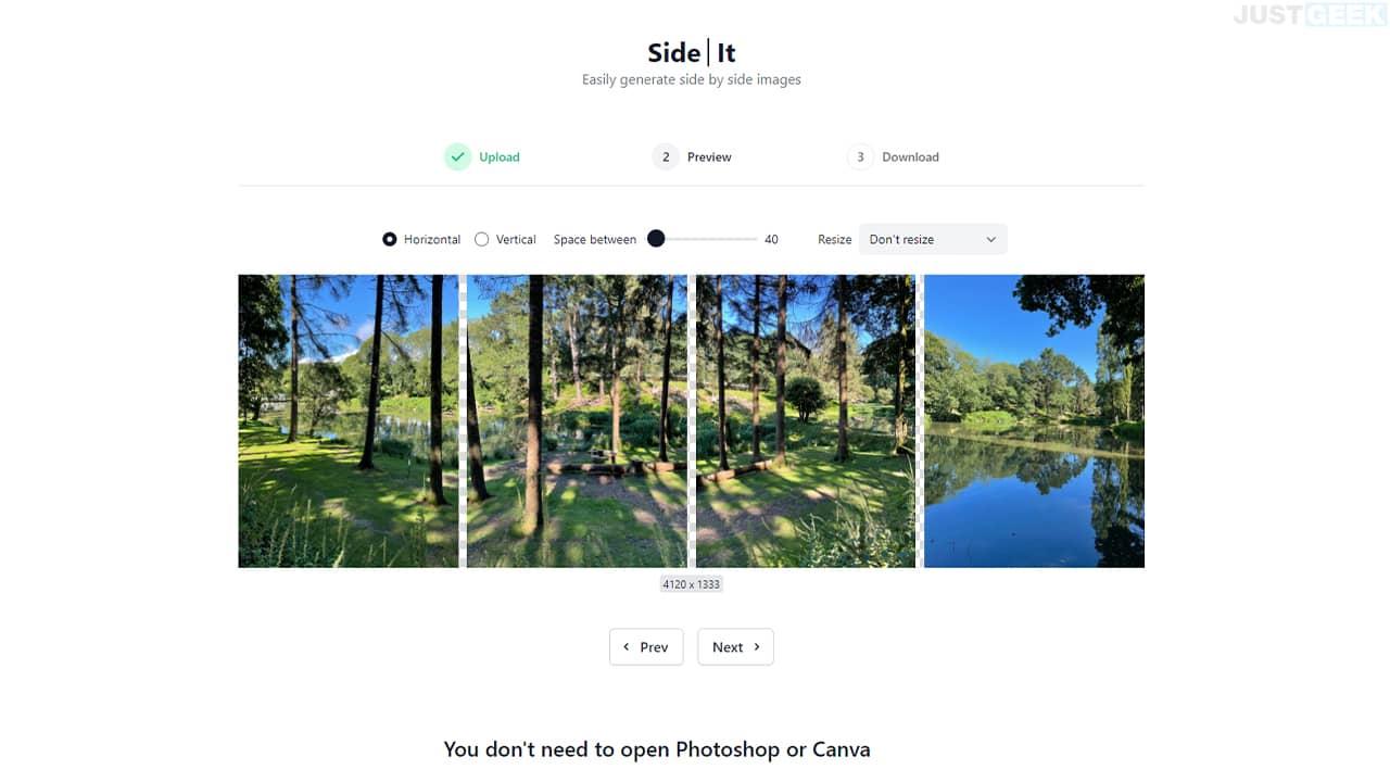 Fusionner plusieurs photos pour n'en faire qu'une avec SideIt