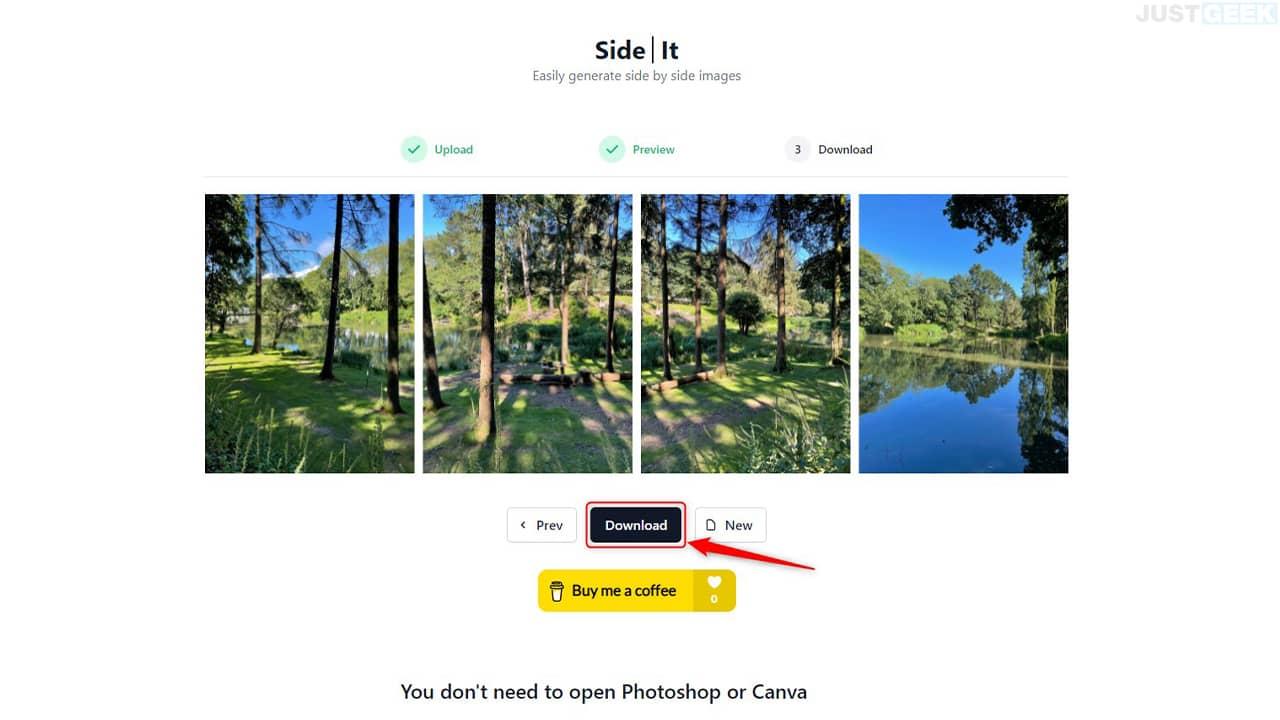Assembler plusieurs photos avec SideIt