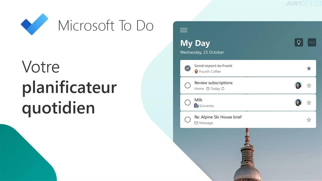Microsoft To-Do, une application indispensable pour la rentrée 2021