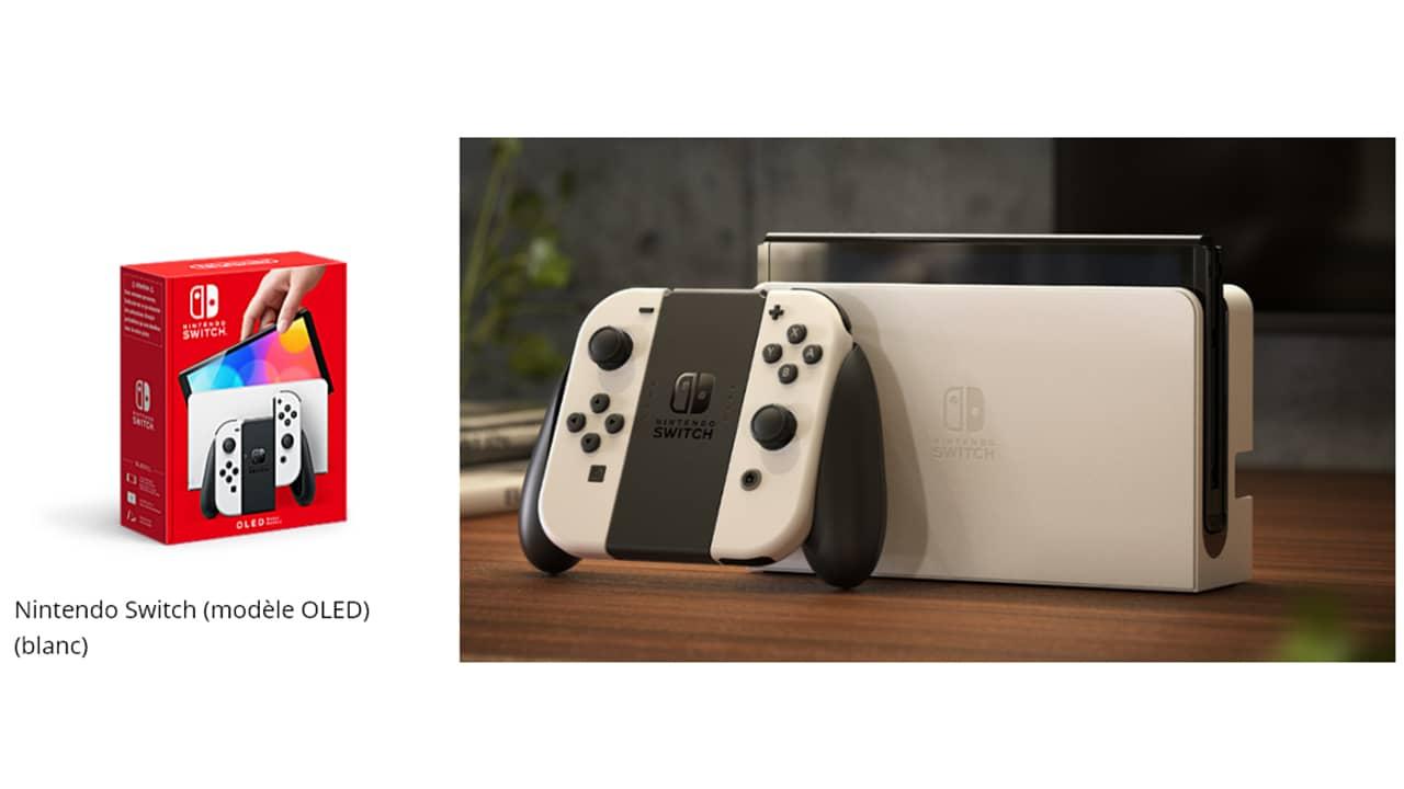 Pack Nintendo Switch (modèle OLED) blanc