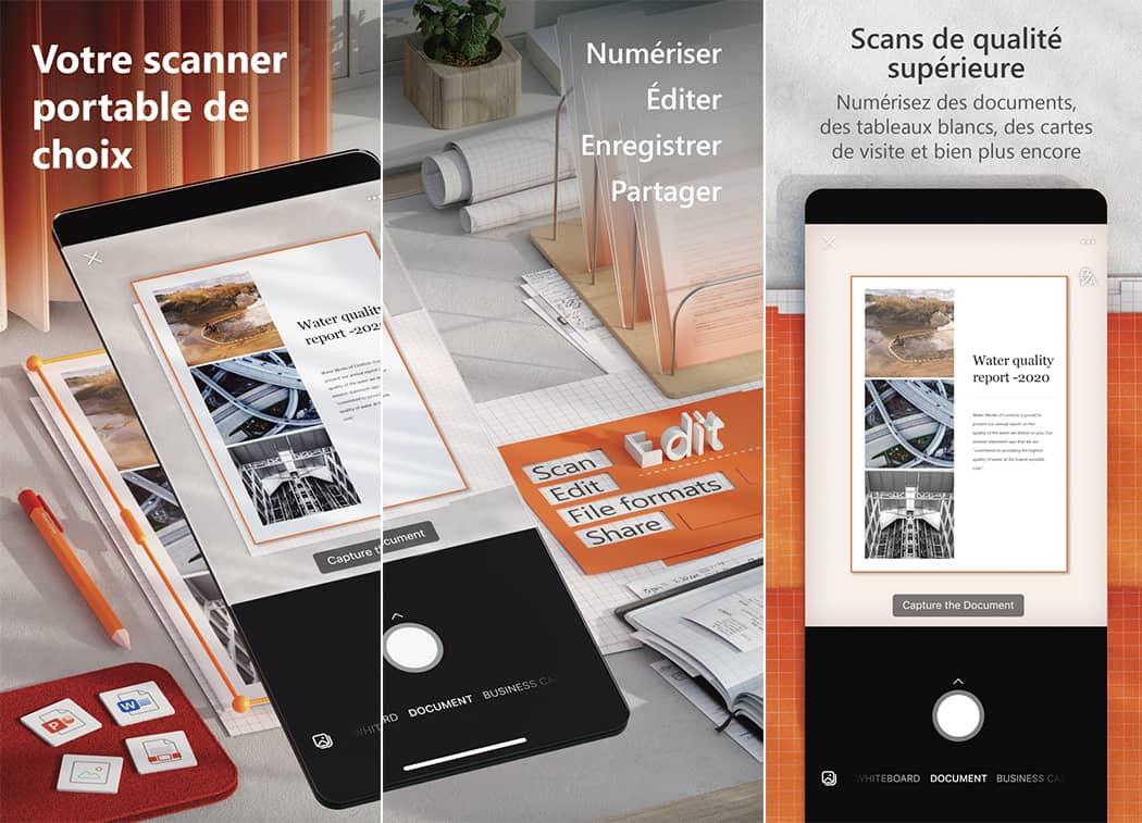 Office Lens fait partie des applications indispensables pour la rentrée 2021