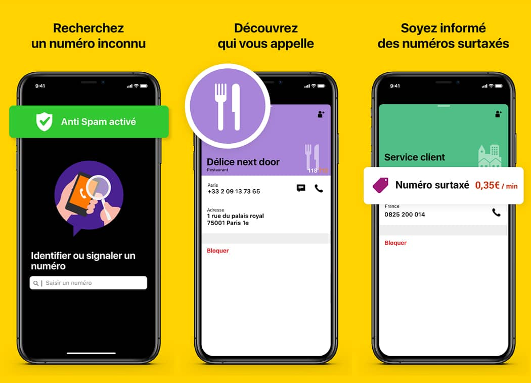 Les différentes fonctionnalités de l'application Orange Téléphone