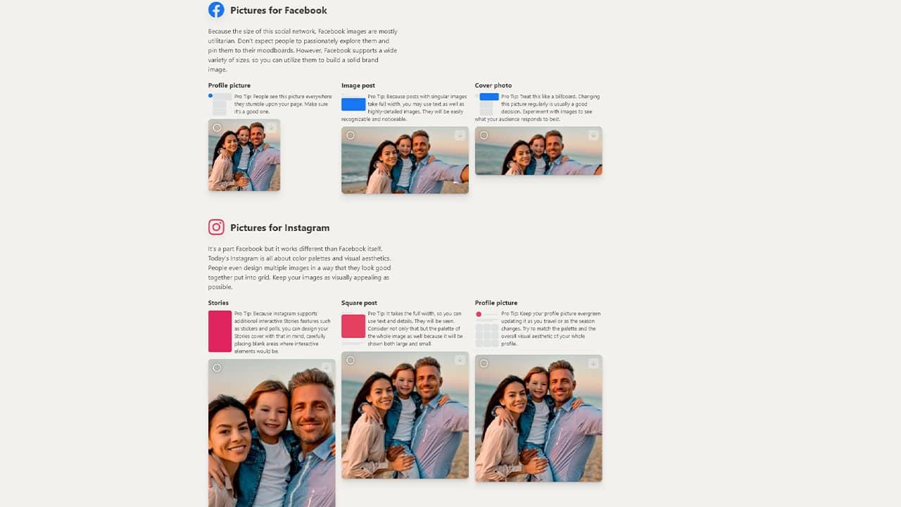 Redimensionner une photo pour Facebook, Instagram, Twitter, etc.
