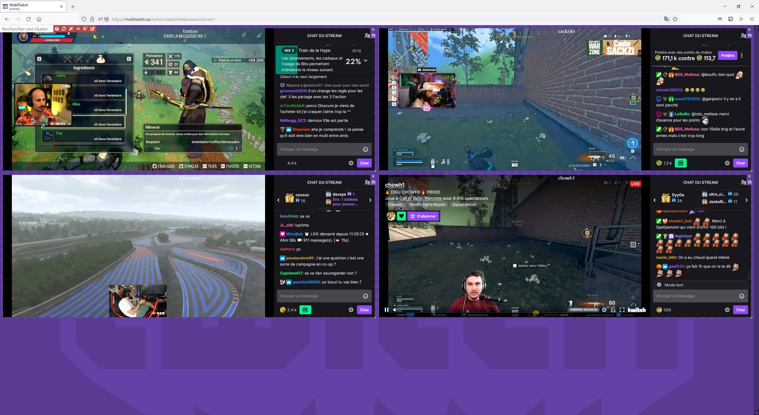 Regarder plusieurs streams Twitch avec MultiTwitch