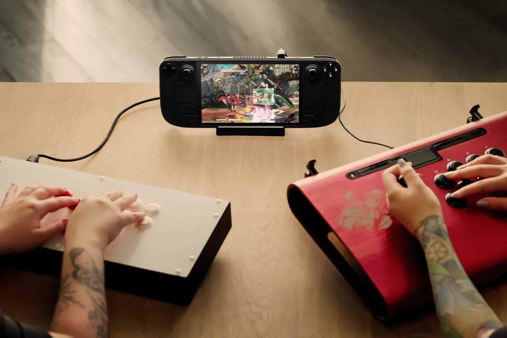 La console portable Steam Deck est compatible avec divers accessoires