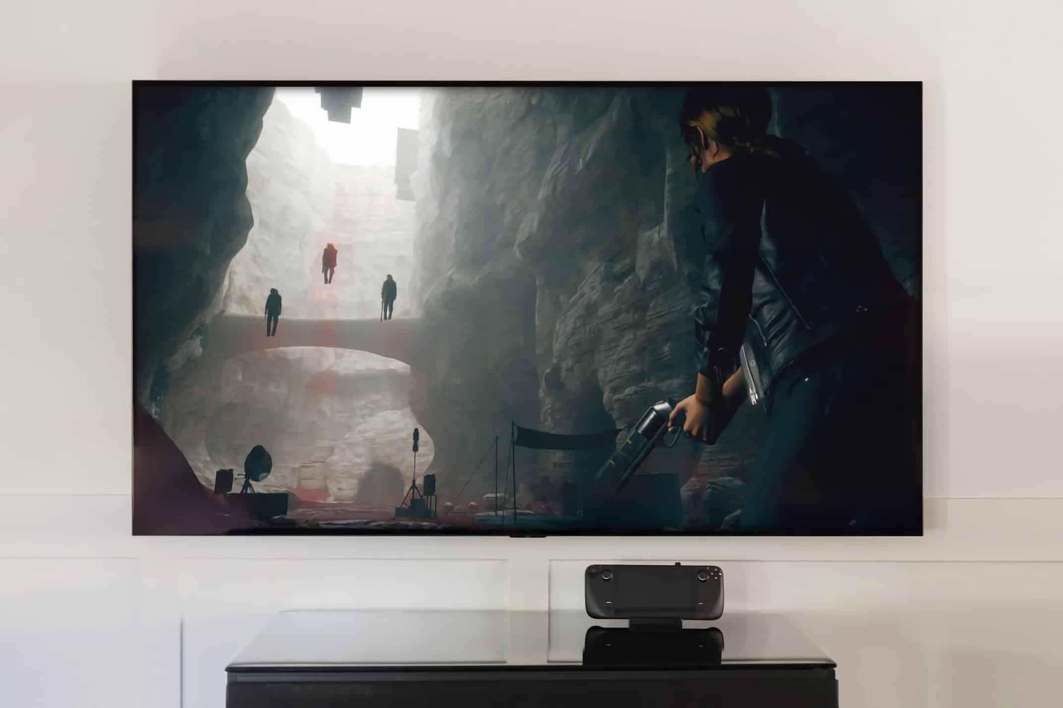Le Steam Deck peut être connecté à un téléviseur (TV)