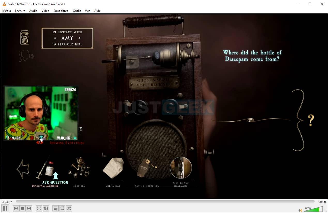 Stream Twitch dans VLC avec Streamlink
