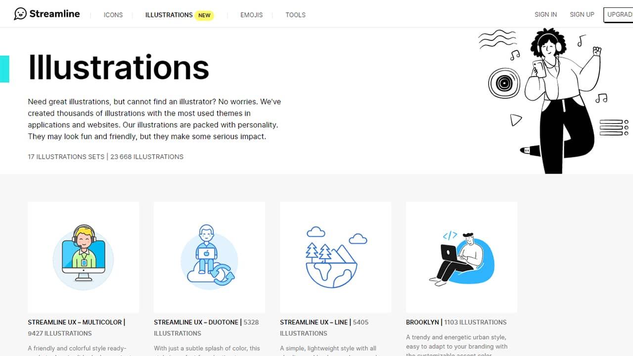 Des illustrations à télécharger gratuitement sur Streamline