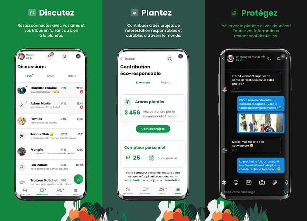 Treebal : application de messagerie instantanée
