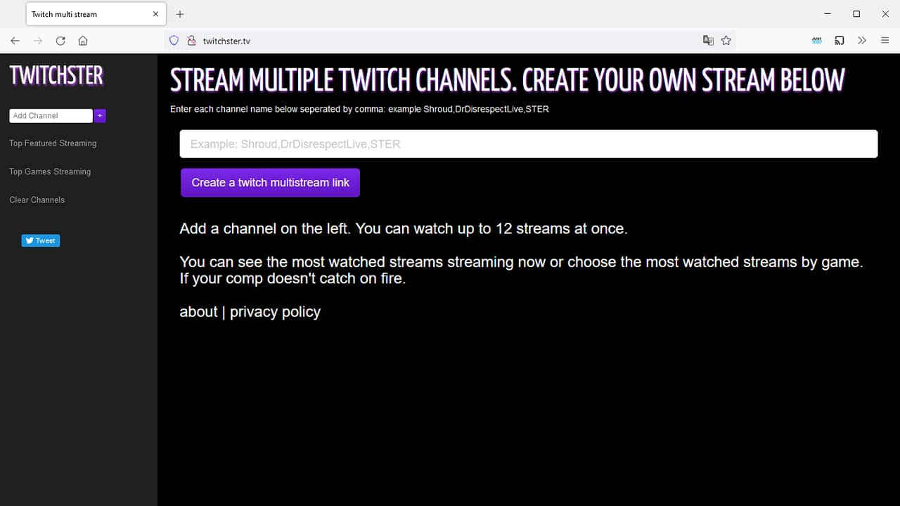 Visionner plusieurs streams Twitch avec Twitchster