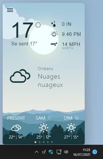 Weather Bar : une application météo open source