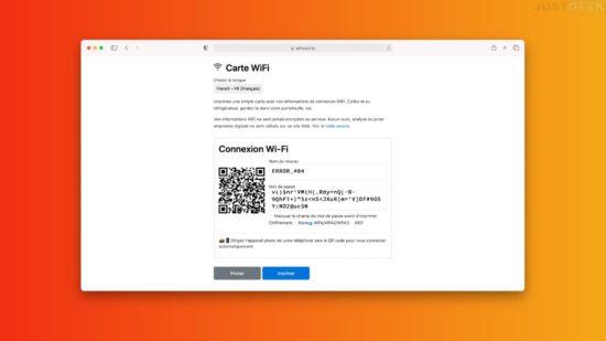 Partager mot de passe WiFi avec un QR code