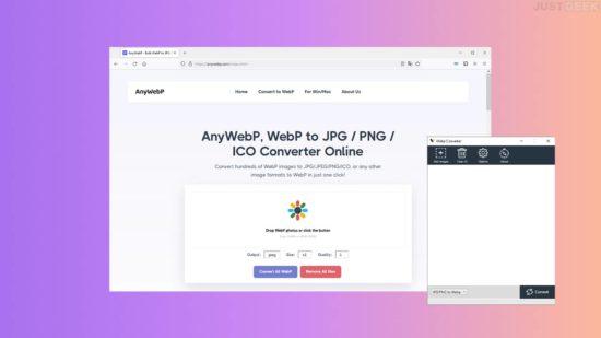 AnyWebP : convertir WebP en PNG/JPG