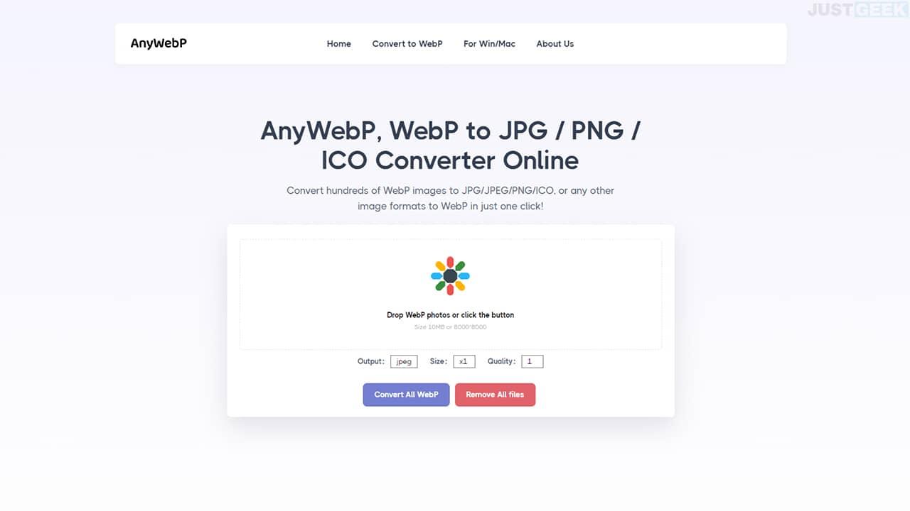 AnyWebP : convertir des images WebP en JPG ou PNG
