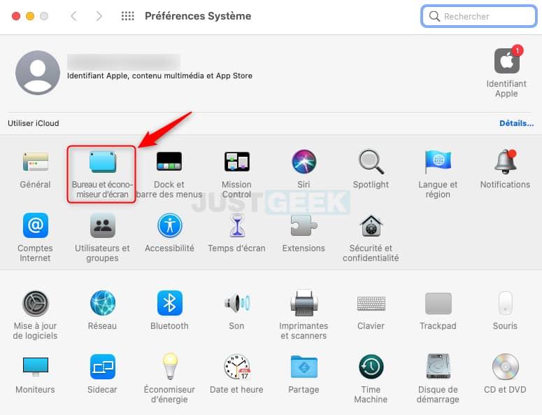 Bureau et économiseur d'écran macOS