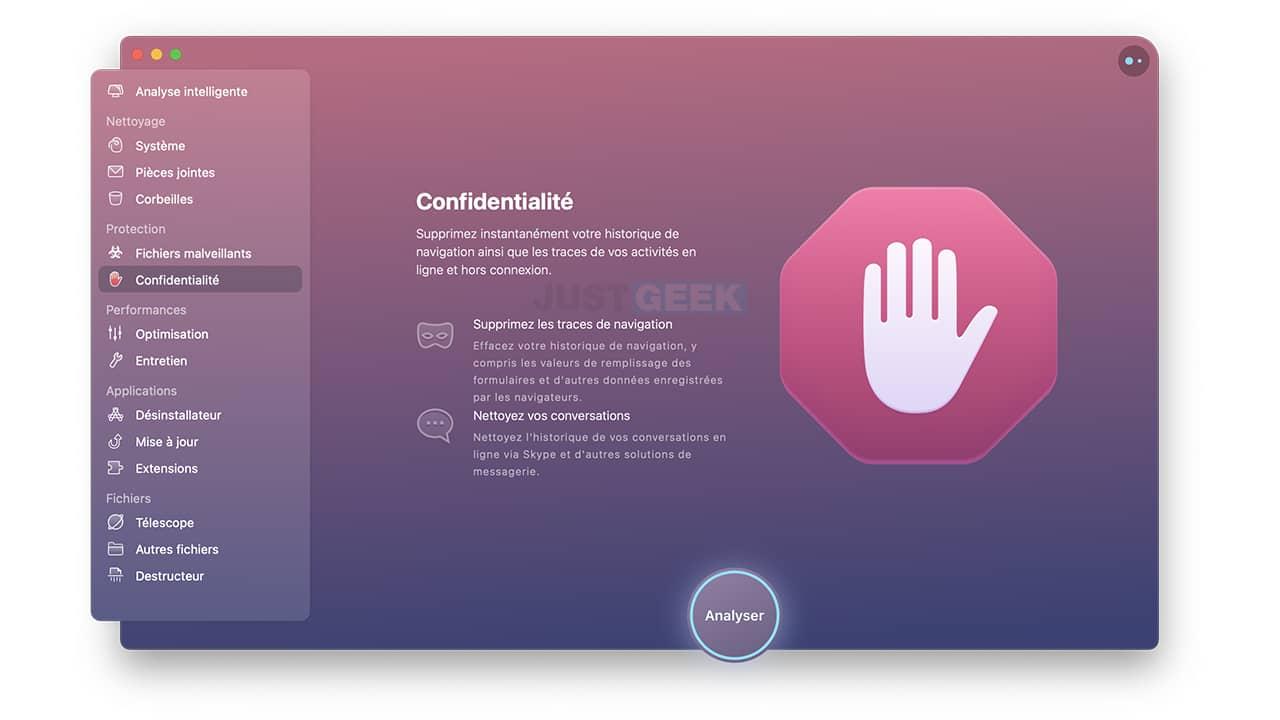 Supprimer les traces de navigation avec CleanMyMac X