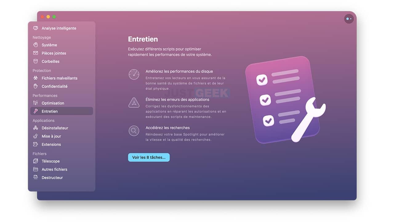 Améliorer les performances du disque sur votre Mac avec CleanMyMac X