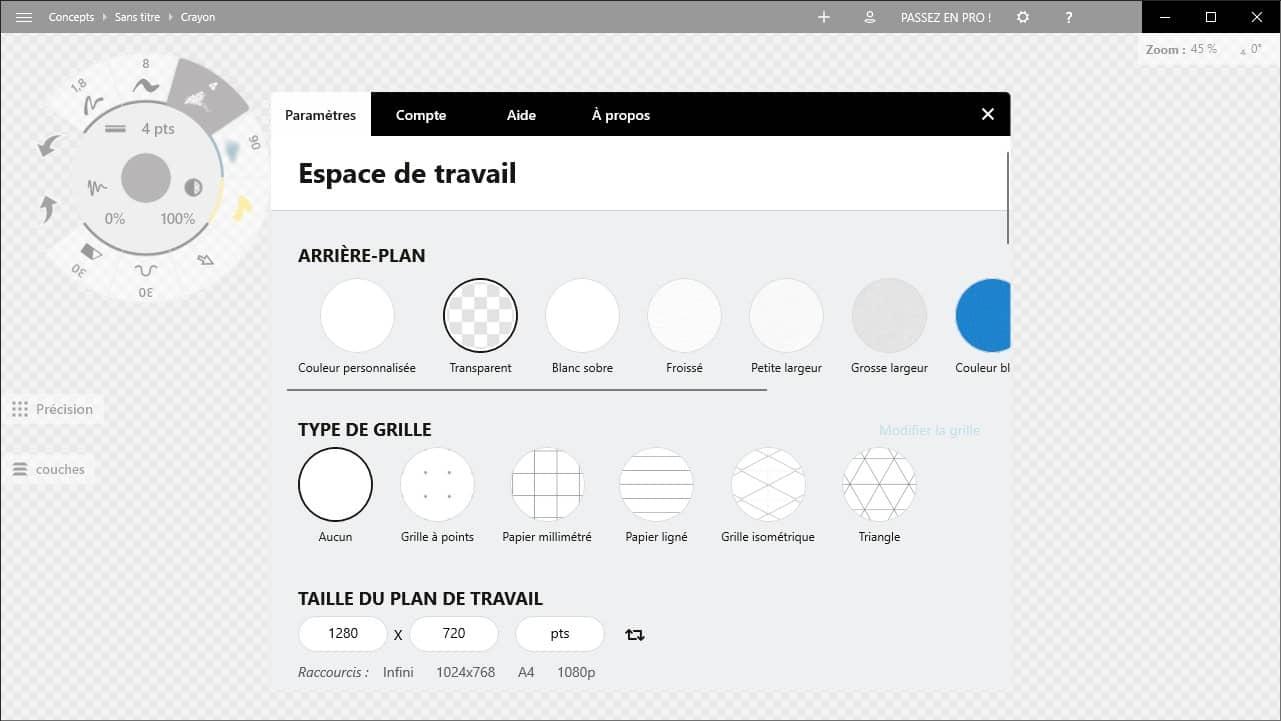 Concepts : un logiciel de dessin vectoriel gratuit