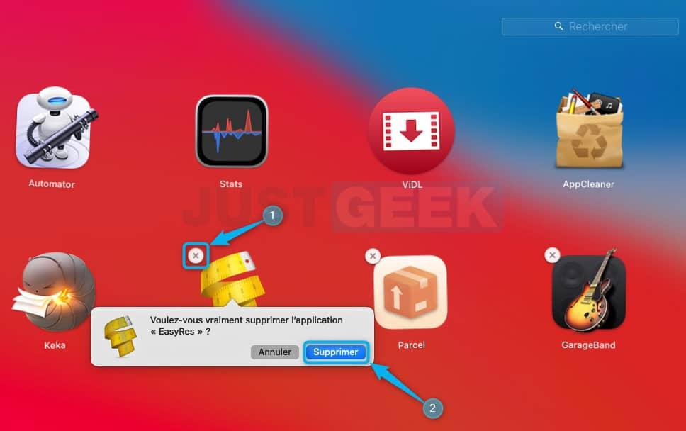 Désinstaller un logiciel sous macOS via le Launcher