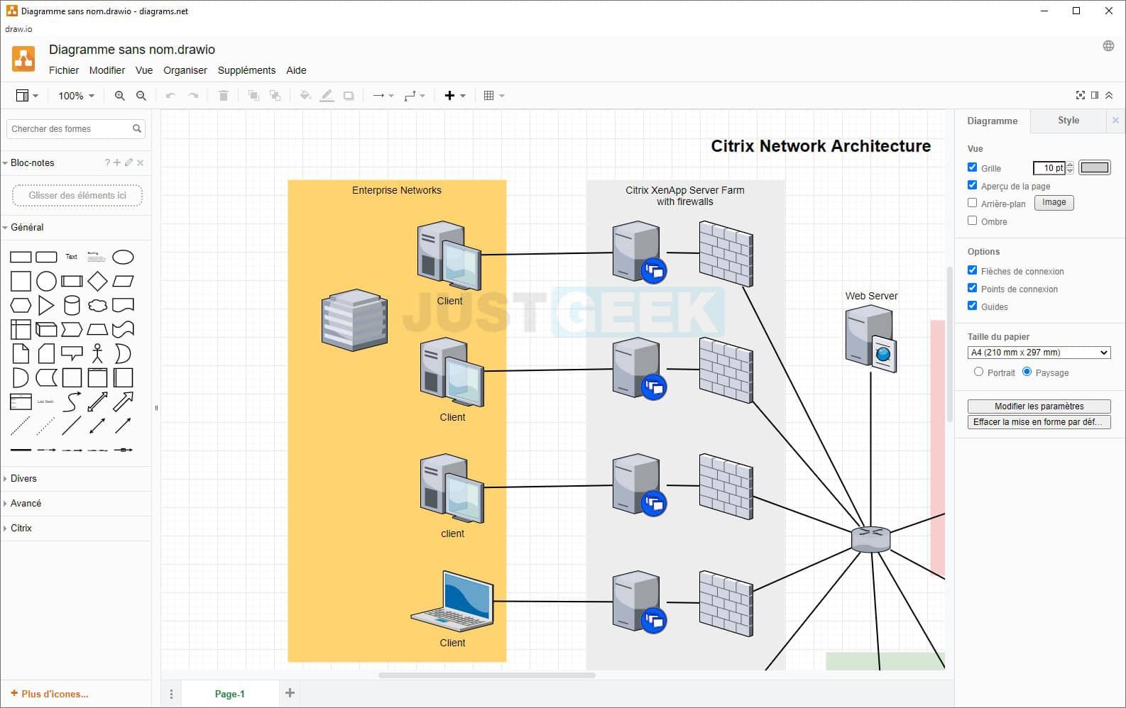 Exemple de diagramme réseau